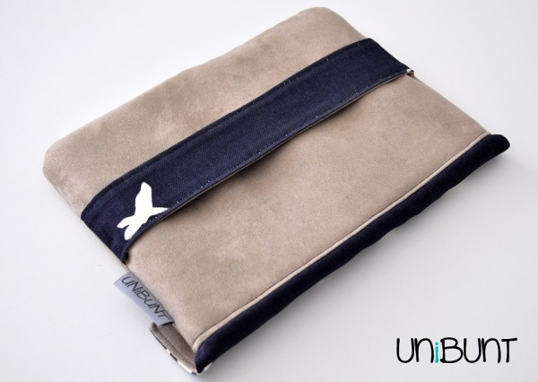 Birch Clutch, Rauhlederimitat, Soft and stable,Style-vil